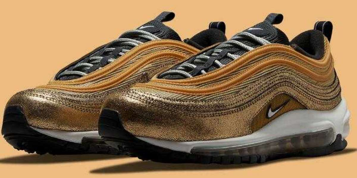 New Drop Golden Nike Air Max 97 Utilizes Cracked Foil Leathers